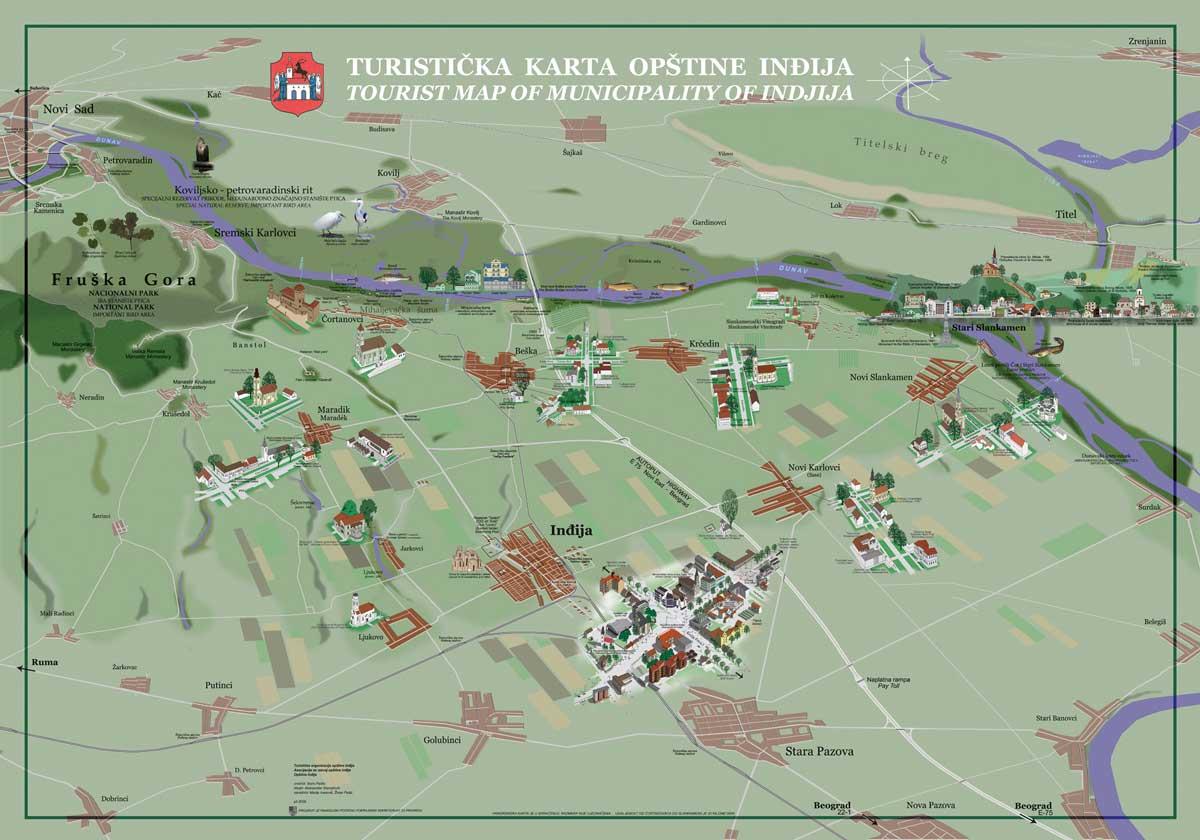 mapa srbije indjija Mapa | Banja Slankamen mapa srbije indjija