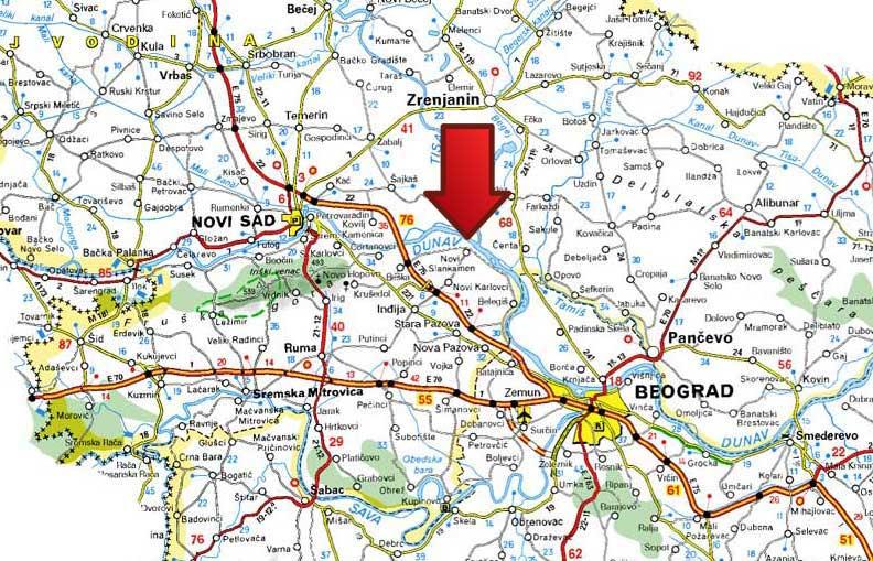 Mapa Banja Slankamen